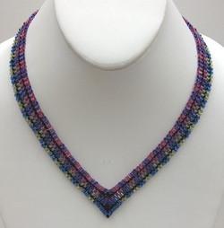 Delica Houndstooth Necklace