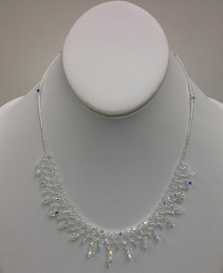 Crysal Lace Necklace in whilte by Paula Binner