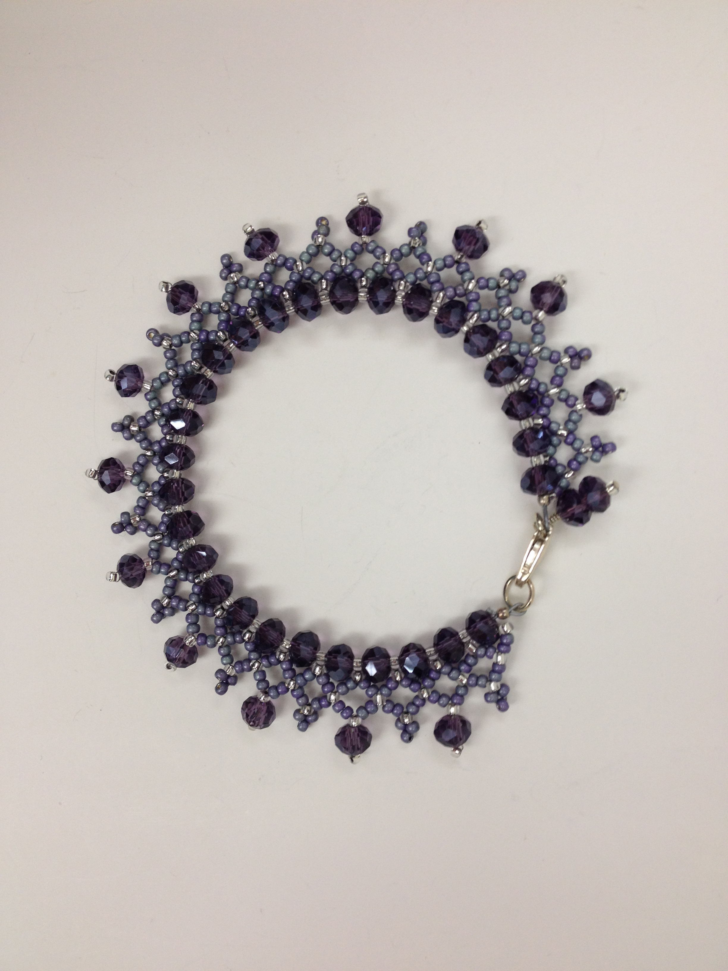 Crystal Lace Braclet in purple by Paula Binner