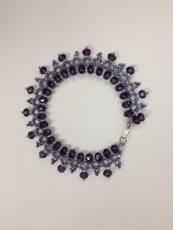 Crystal Lace Braclet in purple by Paula Binner