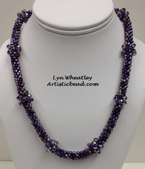 Kumi Ne purp with Crystals Lyn Wheatley WM W