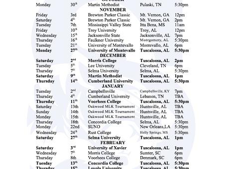 SC Basketball Schedule 2017-2018