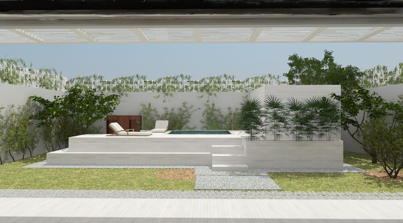 visão da área piscina