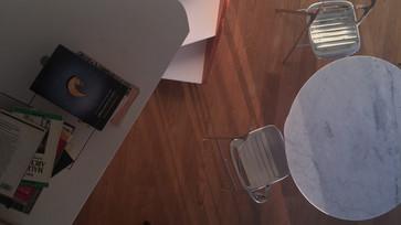 Vista da sala de almoço do mezanino