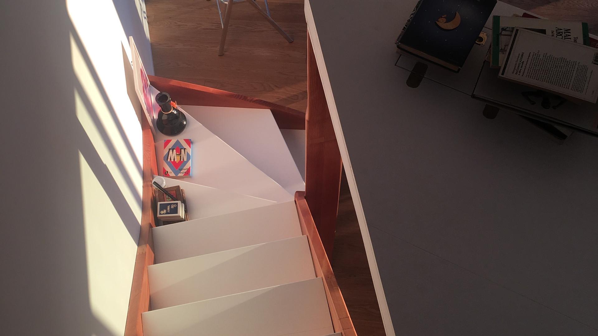 Vista da escada de cima