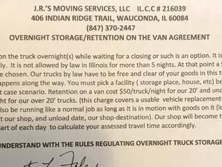 Overnight shipment holdover