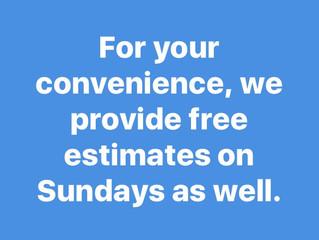 Sunday move estimates