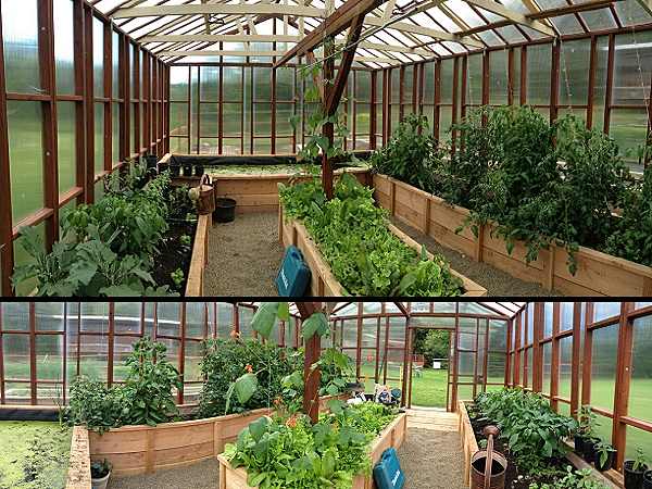 Greenhouse by nw green panels built in raised beds and for Koi pond greenhouse