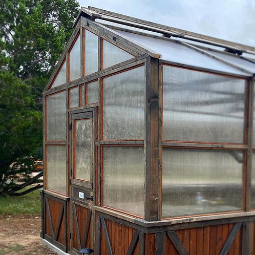 Rustic Midnight Greenhouse