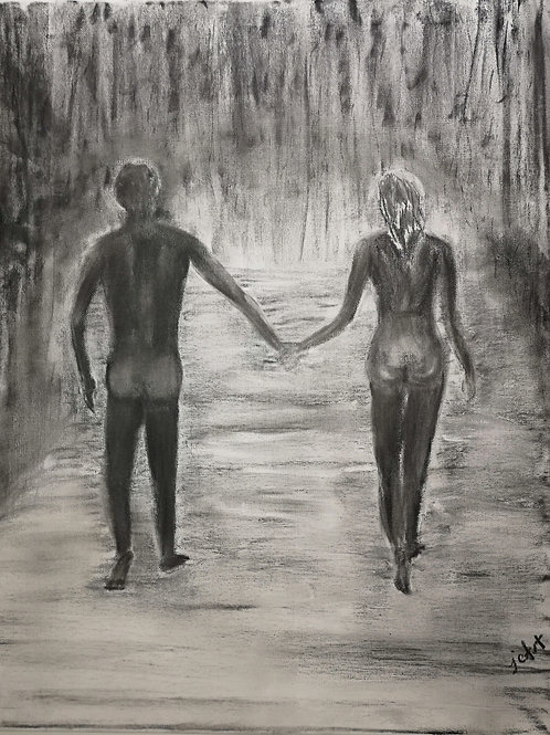 """Naked in the Rain"" 11""x14"" PRINT"