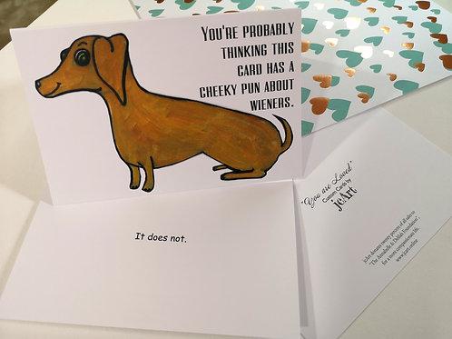 """Cheeky Wieners"" CARD"