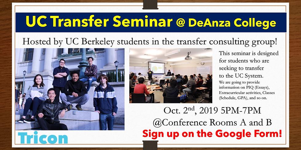 UC Transfer Seminar @ De Anza College