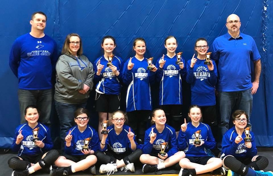 4th Grade Girls Take 1st Place at Jamestown Spring Shoot Out 3-24-18