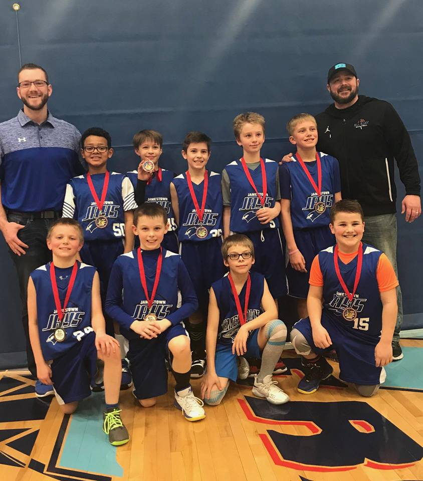 4th Grade Boys Take 2nd Place in Valley City 2-24-18