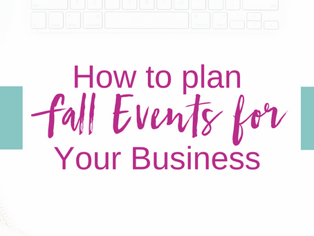How to Plan a Fall Event for Your Business