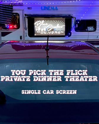 PRIVATE 1 CAR CINEMA - YOU PICK THE FLICK