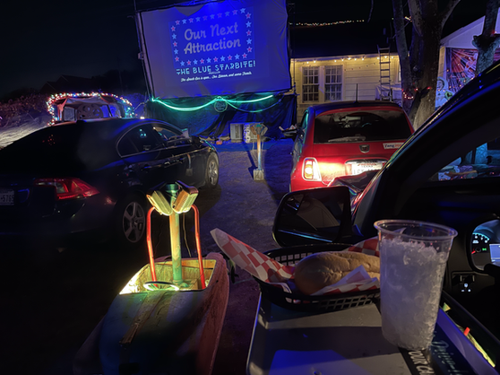 Dinner Theater Screen- 4 cars