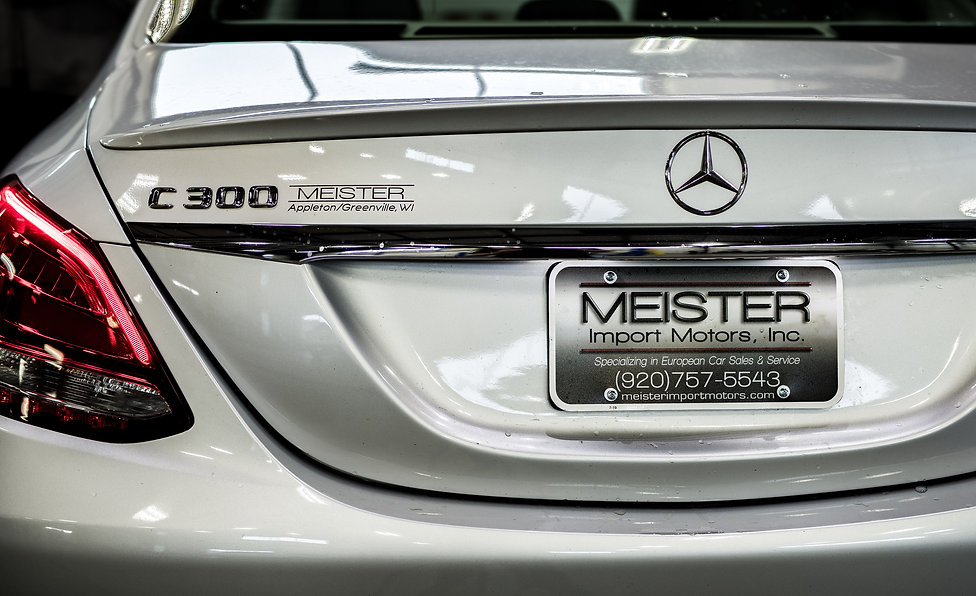 Mercedes C300 back, Meister Motors Greenville, WI.