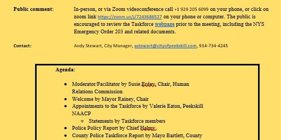 Peekskill Police Reform TaskForce Public Meeting