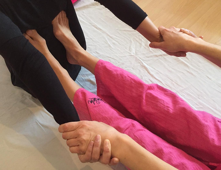 assisted stretching of the back