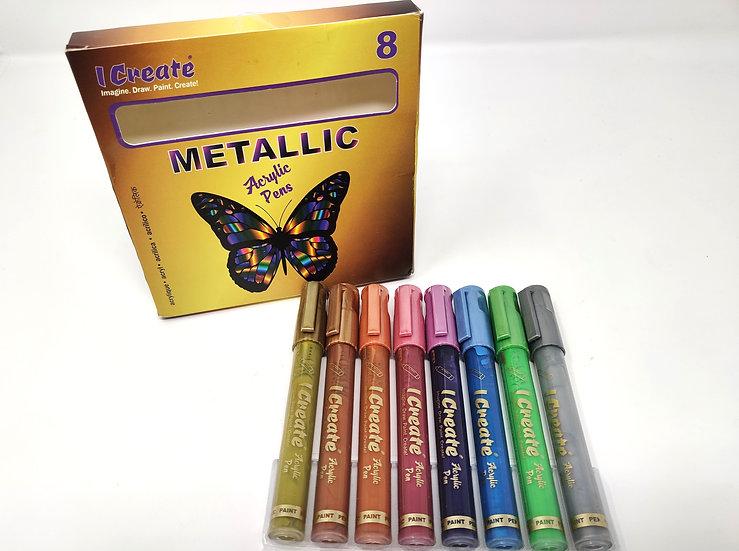 Acrylic Pens Bundle - Metallic, Rainbow and Neon