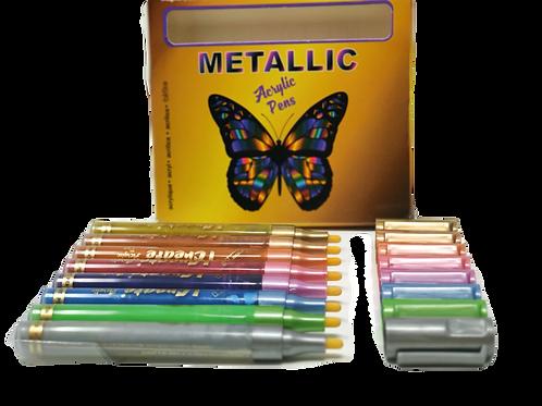 METALLIC Acrylic Pens - 8 Set