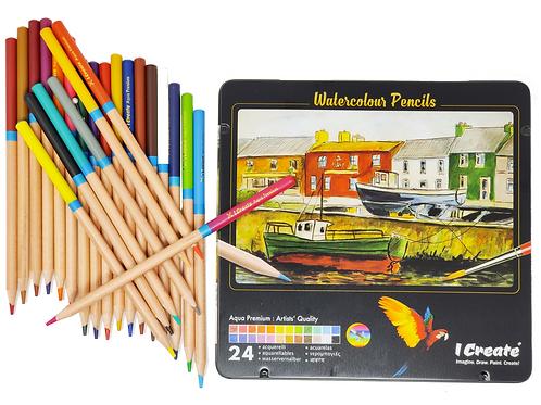 Watercolour Pencil: Artists' Quality - 24 Set