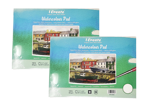 Watercolour Pad (A3, Cold Pressed, 300 gsm, 15 Sheets)