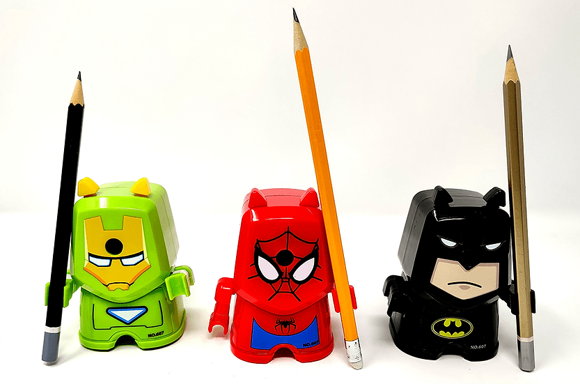 Super Hero Hand Crank Pencil Sharpener