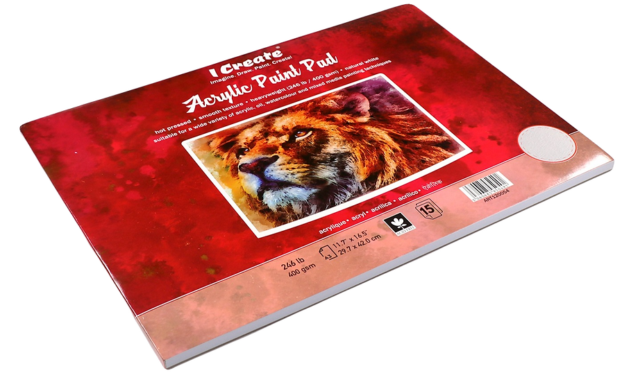 Acrylic Paint Pad (A3, 400 gsm, 15 Sheets)