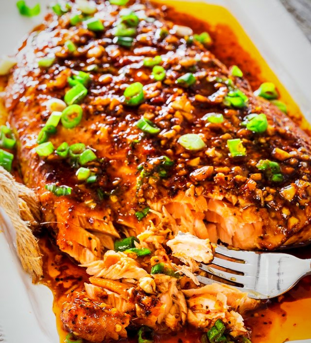 Pear-iyaki Salmon
