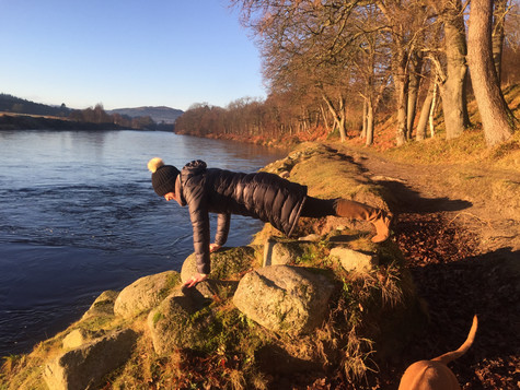 Glorious surroundings - Planking our way round Deeside and Beyond.......