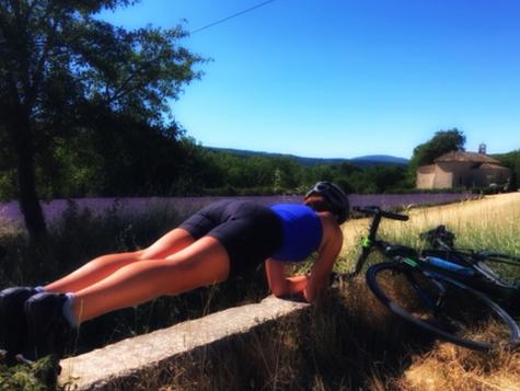 ...as we Plank in fields of.....lavender