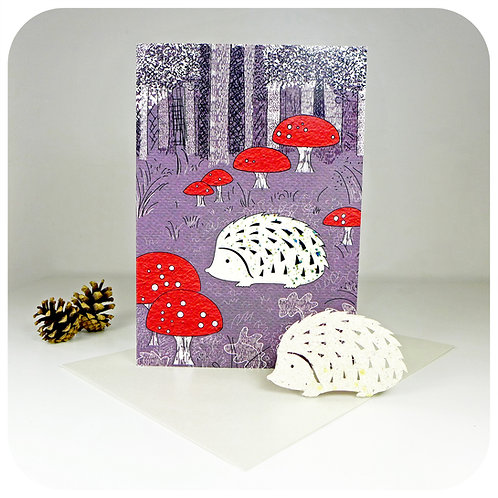 Greeting Card - Plantable Hedgehog