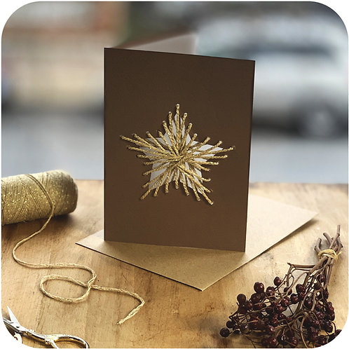 Star Weave Me Christmas Card