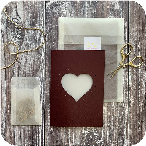 Heart Weave Me Card