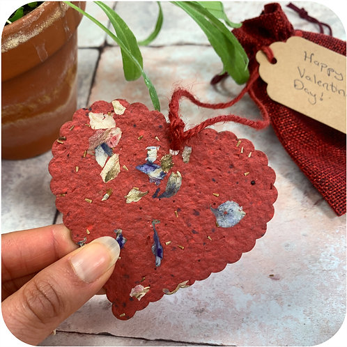 Scalloped Heart Plantable Gift