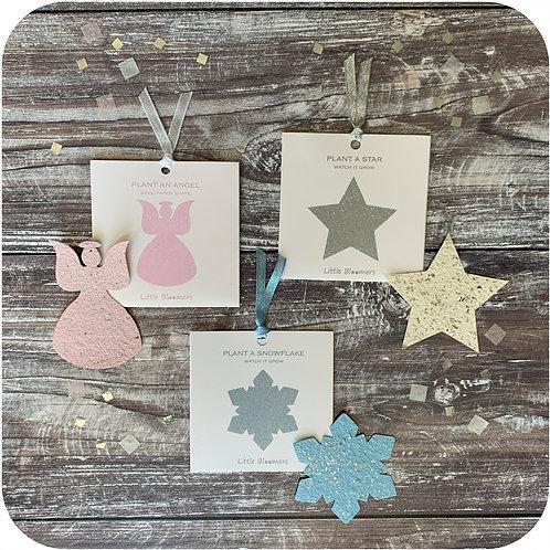 Plantable Angel, Star and Snowflake set