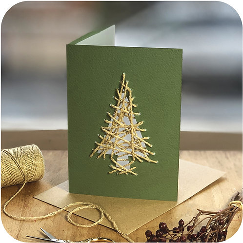 Christmas Tree Weave Me Card