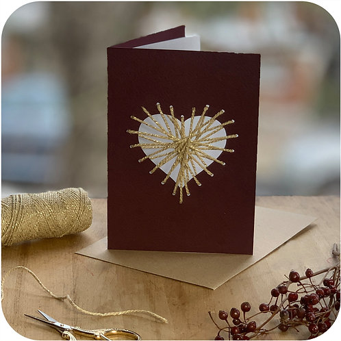 Heart Weave Me Card