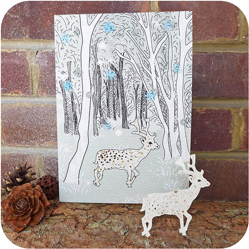 Xmas Greeting Card - Plantable Deer