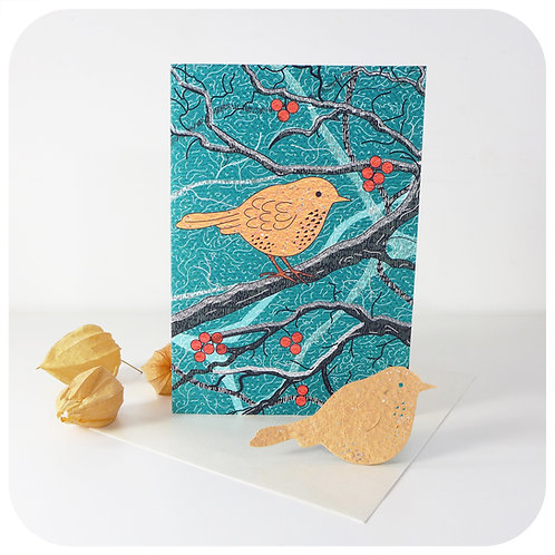 Greeting Card - Plantable Robin
