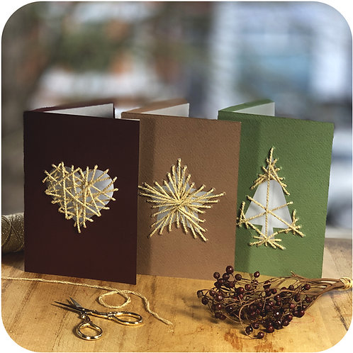 Weave Me Christmas Cards Set