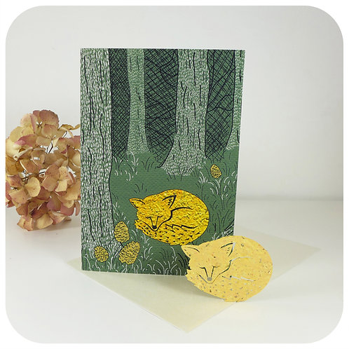 Greeting Card - Plantable Fox