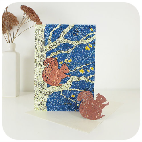 Plantable Squirrel Seed Paper Card