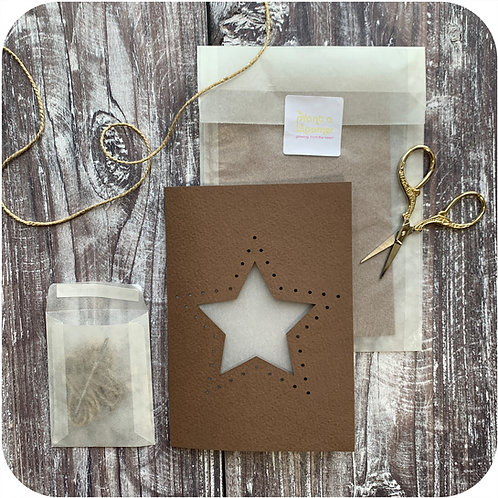 Star Weave Me Card