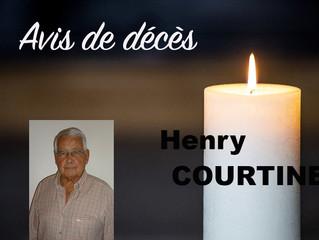 Avis de décès : Henri COURTINE