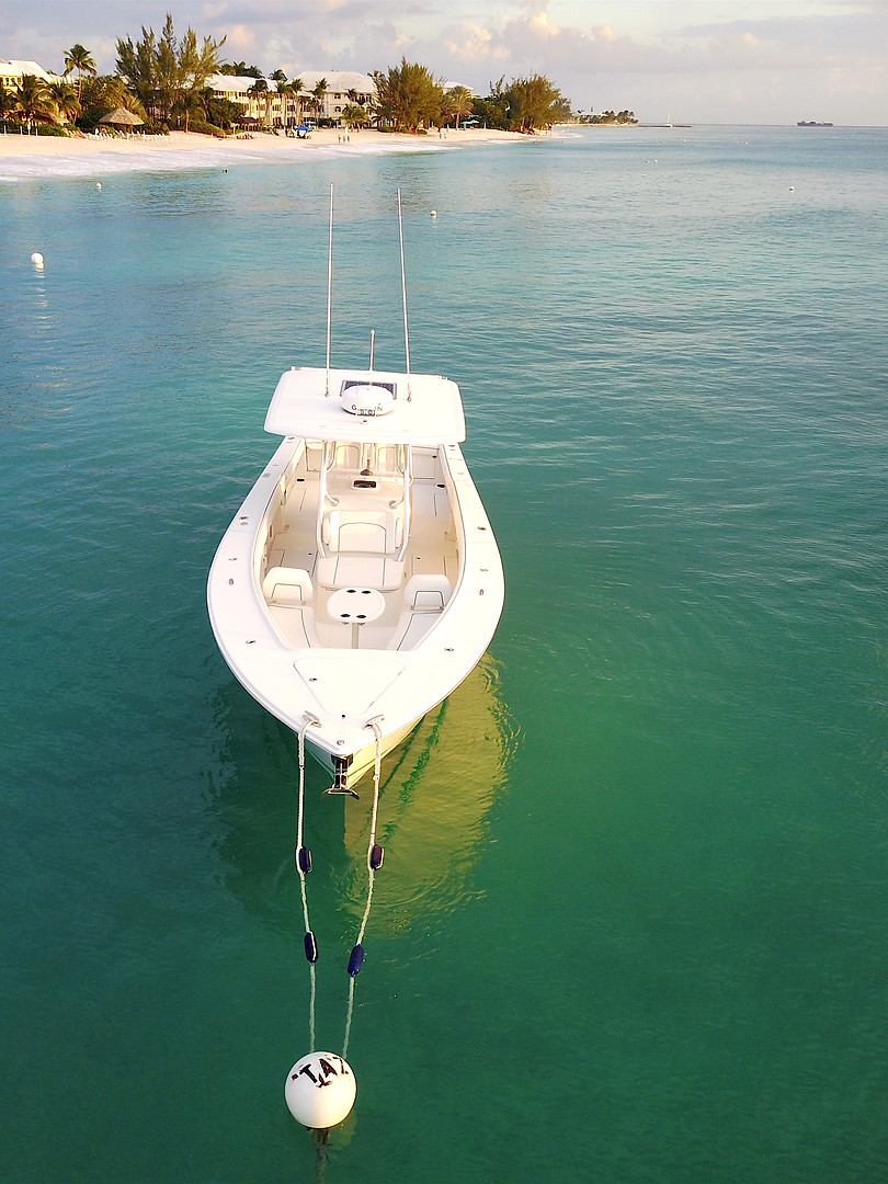 Inflight Drone Boat advertising