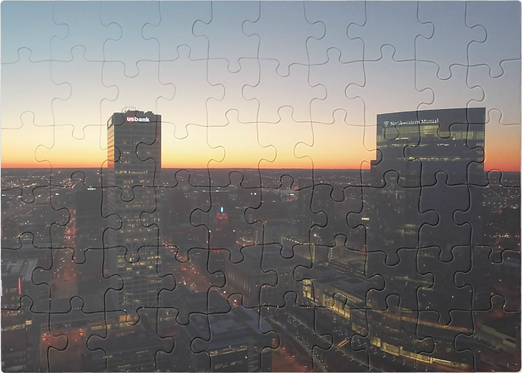 Sunset in Milwaukee Puzzle