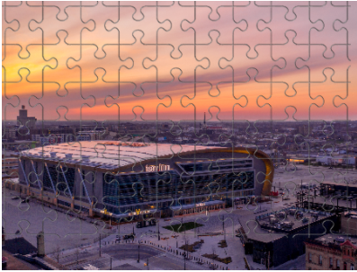 Fiserv Forum From A Far Sunset Puzzle